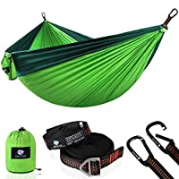 Anyoo Camping Parachute Hammock Lightweight Durable Travel Hammocks Portable Quick-drying Perfect for Hiking Backpacking Beach