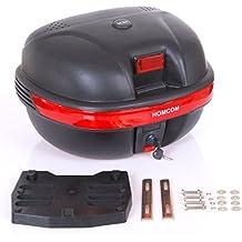 Baul Moto Universal 35L con Llaves y Soporte Caja de Moto Topbox Topcase Casco
