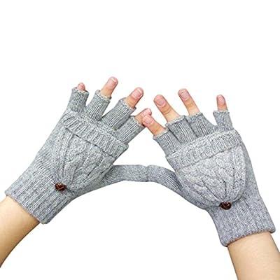Gloves Transer® Women Warmer Winter Fingerless Gloves for Presents/ Christmas Gifts