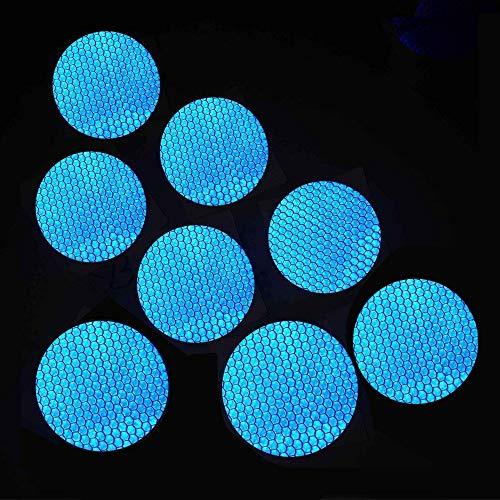 Maiqiken 10pcs nastro adesivo riflettente blu universale auto moto bicicletta stickers 60mm diametro