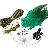 2 Stück DIY Dream Catcher Craft Kit aussagekräftige Weihnachtsgeschenke von Hand -Tiefgrün