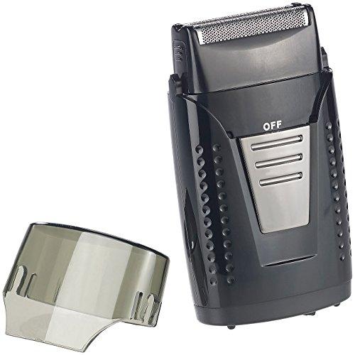 Sichler Men\'s Care Akkurasierer: Vibrationsfreier Folien-Akku-Reiserasierer, IPX5, USB-Ladebuchse (Trocken-Rasierer)