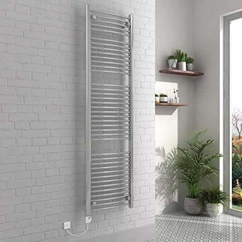 WarmeHaus Designer Curved Bathroom Heated Towel Rail Radiator Rad 1200 x 500 Chrome 10 Yr Guarantee