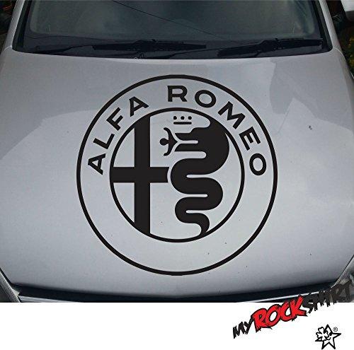 """Preisvergleich Produktbild Hochwertiger Alfa Romeo Aufkleber Sticker XXL Logo Ø 60 cm `+ Bonus Testaufkleber """"Estrellina-Glückstern"""" ®, gedruckte Montageanleitung von """"myrockshirt"""", Versand erfolgt aus Deutschland innerhalb von maximal 48 Stunden, in einem stabilen Versandkarton,waschanlagenfest,Profi Qualität Aufkleber, Tuning,Sticker,Autoaufkleber,Heckscheibe,Lack,Autologo"""