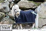 Minishetty Shetty Paradedecke Schw/silbern Fleece Abschwitzdecke Minipony 70 75 80 85 90 95 100 cm HIER 100 cm