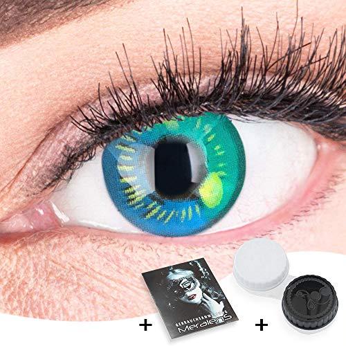 Farbige Hellblaue Kontaktlinsen Anime Türkis Circle Lenses Heroes Of Cosplay Stark Deckend Ohne Stärke mit gratis Linsenbehälter