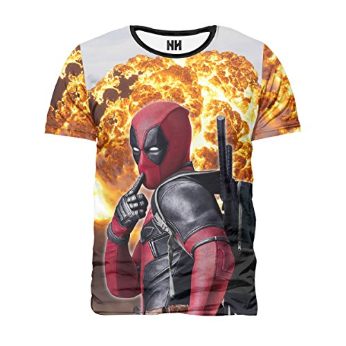 Noorhero - T-Shirt Herren - Deadpool Disaster
