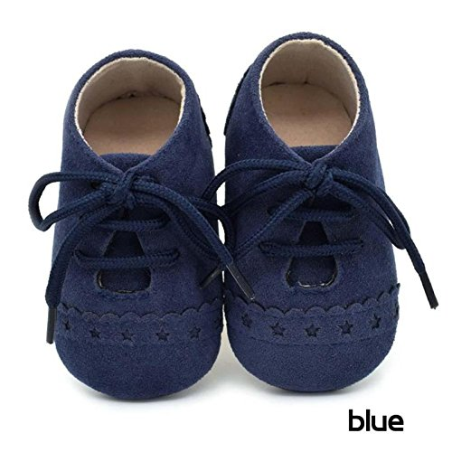 Hykis Baby Shoes Toddler Infant Unisex Boys Girls Soft PU Leather Moccasins Girl Baby Boy Shoes bebes chaussures fille garcon [ Blue 1.5 ]