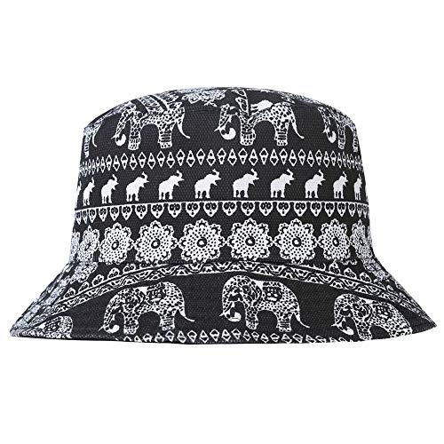 ZLYC - Gorro de Pescador - para Hombre Elefant, Weiß Talla única