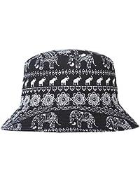 d531b7c883405 ZLYC Unisex Fashion Embroidered Bucket Hat Summer Short Brim for Men Women  Teens