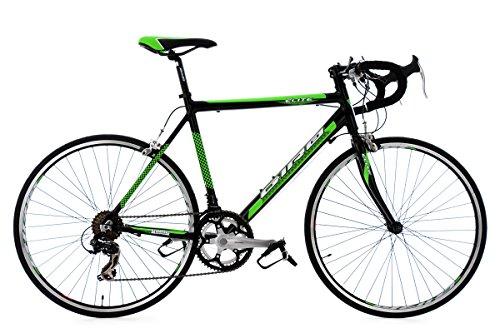 Preisvergleich Produktbild Rennrad 26'' Elite schwarz-grün Alu-Rahmen RH 53 cm