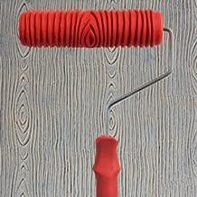 7 Inch Rodillo De Pintura Relieves Patron Con Mango Plastico Decoracion Pared
