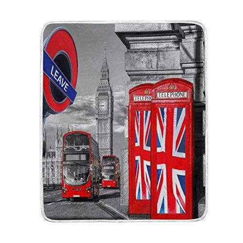 Use7 Home Decor Big Ben Union Jack London - Manta Suave y...