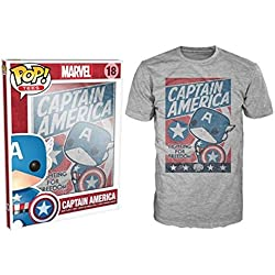 Camiseta POP Tee Capitan America Marvel