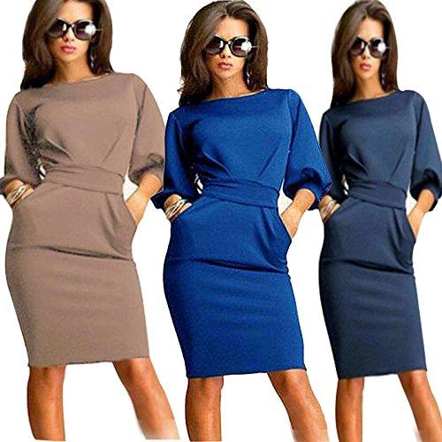 l'ufficio del lavoro della donna, signora stasera festa slim bodycon matita vestito il blu scuro