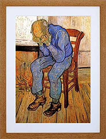 9x7 '' VAN GOGH MAN SORROW THRESHOLD ETERNITY 1890 FRAMED ART PRINT F97X1623