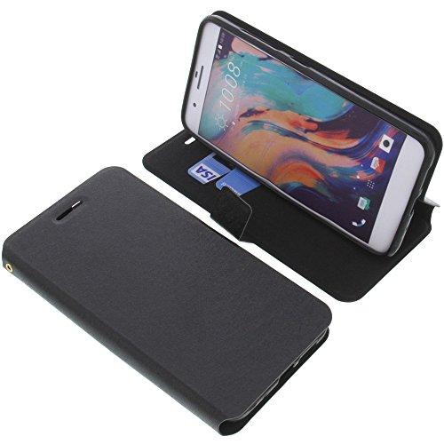 foto-kontor Tasche für HTC E66 One X10 Book Style schwarz Schutz Hülle Buch