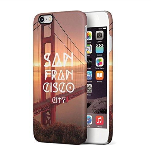 New York City Empire State Building Apple iPhone 6 / iPhone 6S SnapOn Hard Plastic Phone Protective Custodia Case Cover Golden Gate Bridge