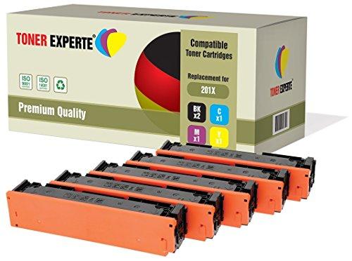 Preisvergleich Produktbild TONER EXPERTE® 5 Premium Toner kompatibel zu HP 201X CF400X CF401X CF402X CF403X für HP Color LaserJet Pro M252dw, M252n, MFP M277dw, MFP M277n