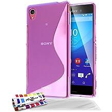 Muzzano Le S - Funda para Sony Xperia M4 Aqua (protector de pantalla), color morado
