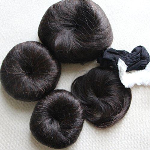 Extension corte di veri capelli 100% vergini brasiliani, 3 acconciature da 27pezzi + 1fascia colorata