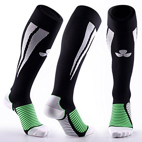 Samson Calcetines de compresión, para deportes, para fútbol, entrena