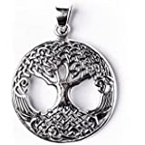 81stgeneration Women's .925 Sterling Silver Tree Of Life Celtic Wicca Pagan Pendant
