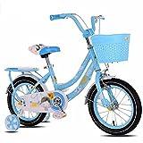 Kinderfahrräder YANFEI Kinder Fahrrad Rosa 1-Gang-Farbe koordiniert Speichenräder Voll Geschlossenen Kettenschutz und Leicht zu Erreichen Bremse Kindergeschenk (Farbe : C, Größe : 18 inch)