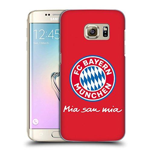 Logo Edge (Offizielle FC Bayern Munich Volle Farbe Rot 2017/18 Logo Ruckseite Hülle für Samsung Galaxy S7 edge)