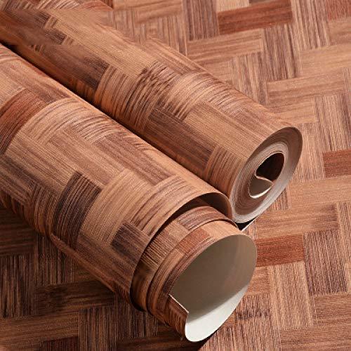 Fuxitoggo Chinesische Weinlese-Nachahmungstroh-Bambuswebart-Muster-Tapete-Matte des Bambus-Bambus-traditionelle Klassische Volksart-einfache Tapete (Farbe : Rot, Größe : 5.3 Square Meters per roll) -