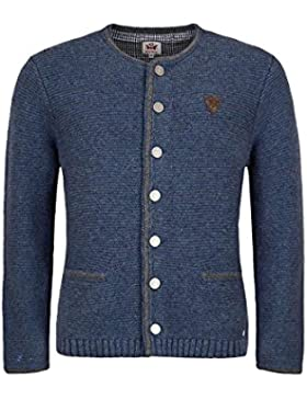 Spieth & Wensky Herren Herren Trachten-Strick-Jacke Jeansblau, Jeansblau/Mittelgrau,