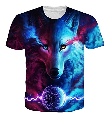 Mens 3d Print Hipster Short Sleeve Shirt Casual Graphics Tees