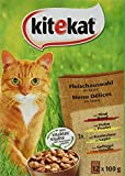 Kitekat Katzenfutter Fleischauswahl in Sauce, 12 Stück (12 x 100g)