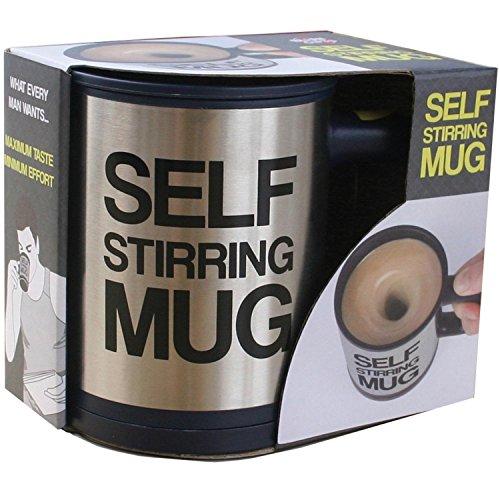 Mug automélangeur GUOGUOD Creative 350 ml Café Tasse à thé – Noir