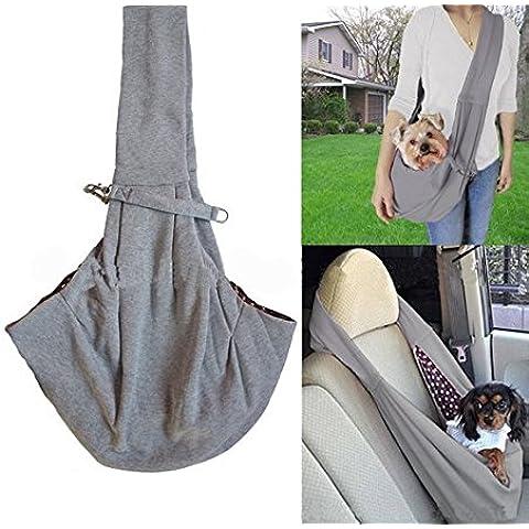 Mani libere Pet Sling Bag Pet Dog Cat pieghevole Viaggi Carrier Bag cucciolo gattino Coniglio tracolla Tote