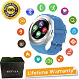 SEPVER Smart Watches Smart Watch SN05 Round Smartwatch with SIM TF Card Slot Sync Calls Notifications for IOS Android Samsung Huawei Sony LG HTC Google Men Women Kids Girls Boys (Blue)