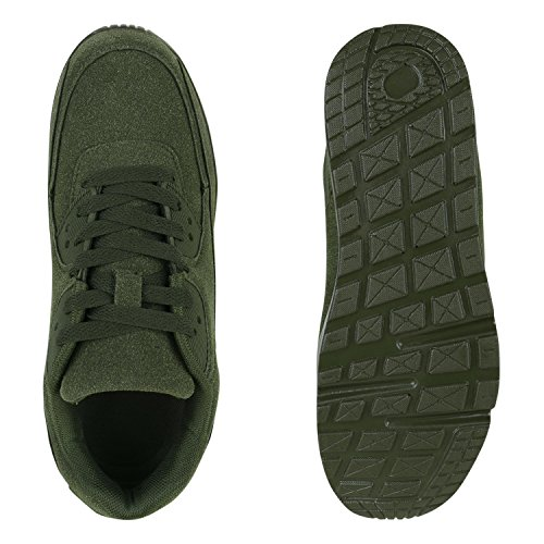 Stiefelparadies - Sneaker Donna Verde scuro