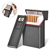 LuckWin Zigarettenschachtel mit elektrischem Feuerzeug im Modul für Paket 20pcs Kompletter Tabak Wasserbeständiger Fang Sicherer Schutz für Zigaretten