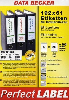 192 x 61 Etiketten für Ordnerrücken