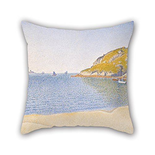 beautifulseason Pillow Cases of Oil Painting Paul Signac - Port of Saint-Cast 20 X 20 Inches/50 by 50 cm Best Fit for Family Coffee House Wife Kids Home Theater Him Twice Sides -