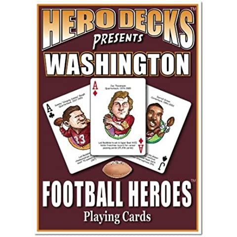 Hero Decks - Washington Redskins - Playing Cards by Channel Craft
