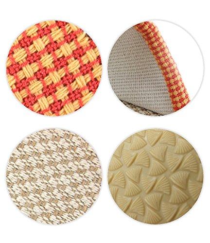 ALUK- Four Seasons Indoor Anti - Slip Couple Soft Bottom Linen Home Pantoufles ( couleur : Marron , taille : 27 (for 40-41 Yards) ) Marron