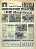 parisien special tierce le du 05 09 1970 minski warfrouss potamochere et quizas ont nos preferences