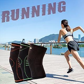 Home & Style Kompressions-Knieärmelstütze für Laufen, Crossfit, Basketball, Gelenkschmerzen, Knieorthese für Meniskus, ACL & Tendonitis, Arthritis und Verletzungen - Single Wrap Orange
