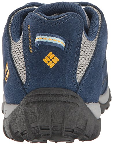 Columbia Youth Redmond Waterproof, Scarpe da Corsa Bambino Blu (Steam/ Super Solarize)