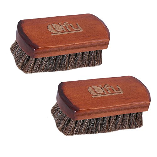 Lify Mini Shoe Polish Brush (Pack of 2), 100% Natural Horse Hair brush  available at amazon for Rs.499