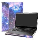 """Alapmk Spécialement Conçu Protection Housses pour 15.6"""" HP Spectre x360 15-dfXXXX Series Portable(Pas Compatible HP Spectre x360 15-apXXXX 15-blXXXX 15-chXXXX),Galaxy"""