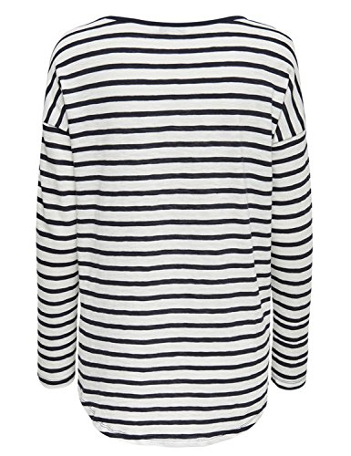 Blooming Jelly Casual Striped Basic und Schwarz Blau Kurzarm For Damen Tops T-Shirt Tee Mehrfarbig-1