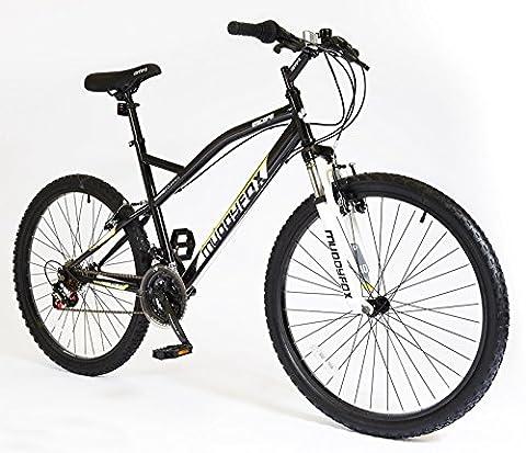 New Mens/Gents Black Muddyfox Escape Hardtail 18 Speed Mountain Bikes - Black -