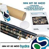 HYDROKIT : MINI KIT D'OUVERTURE QUE CONTIENT :-1 ACTIVATEUR DE FEUILLES DE PAPIER DE POLYVINYLE POUR IMPRESSION PAR TRANSFERT À L'EAU-AÉROSOL 400 ml-50 FEUILLES DE 4 X 100 CM : HFC-003 HLC-001 HCA-122,-004-HPA 1 MANUEL DE BASE DE INSTRUCCIONESR TRANS...